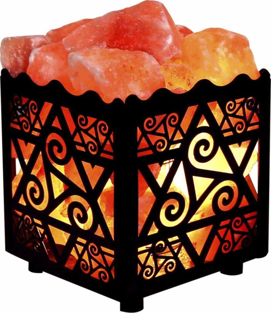 Himalayan Star Design Metal Basket - Himalayan Salt Lamp
