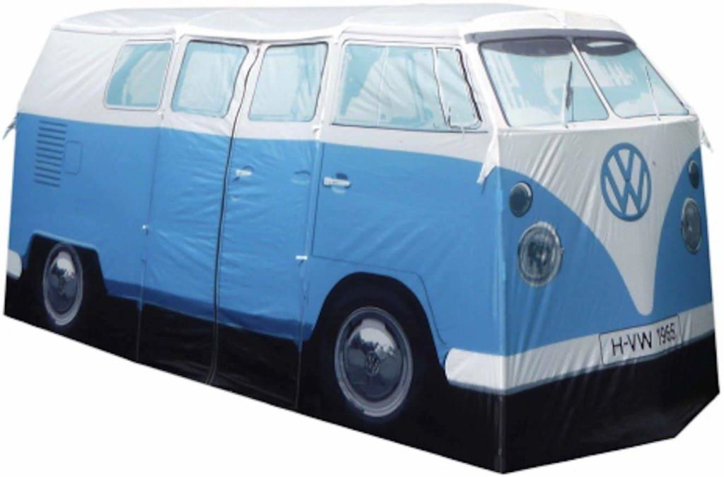 VW Bus Tent in blue color