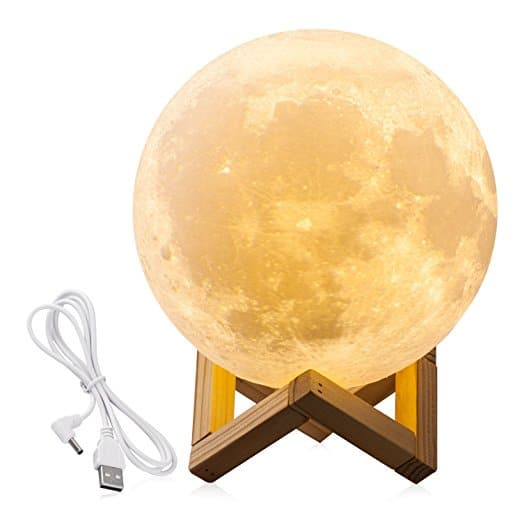 Lighting Night Light LED 3D Printing Moon Lamp