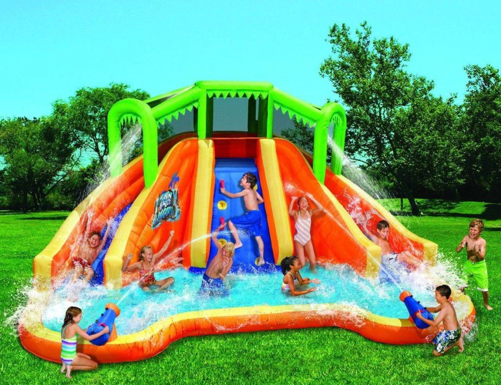 Banzai Twin Falls Lagoon Inflatable Water Slide