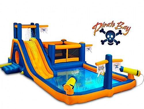 Blast Zone Pirate Bay Inflatable Combo Water Park