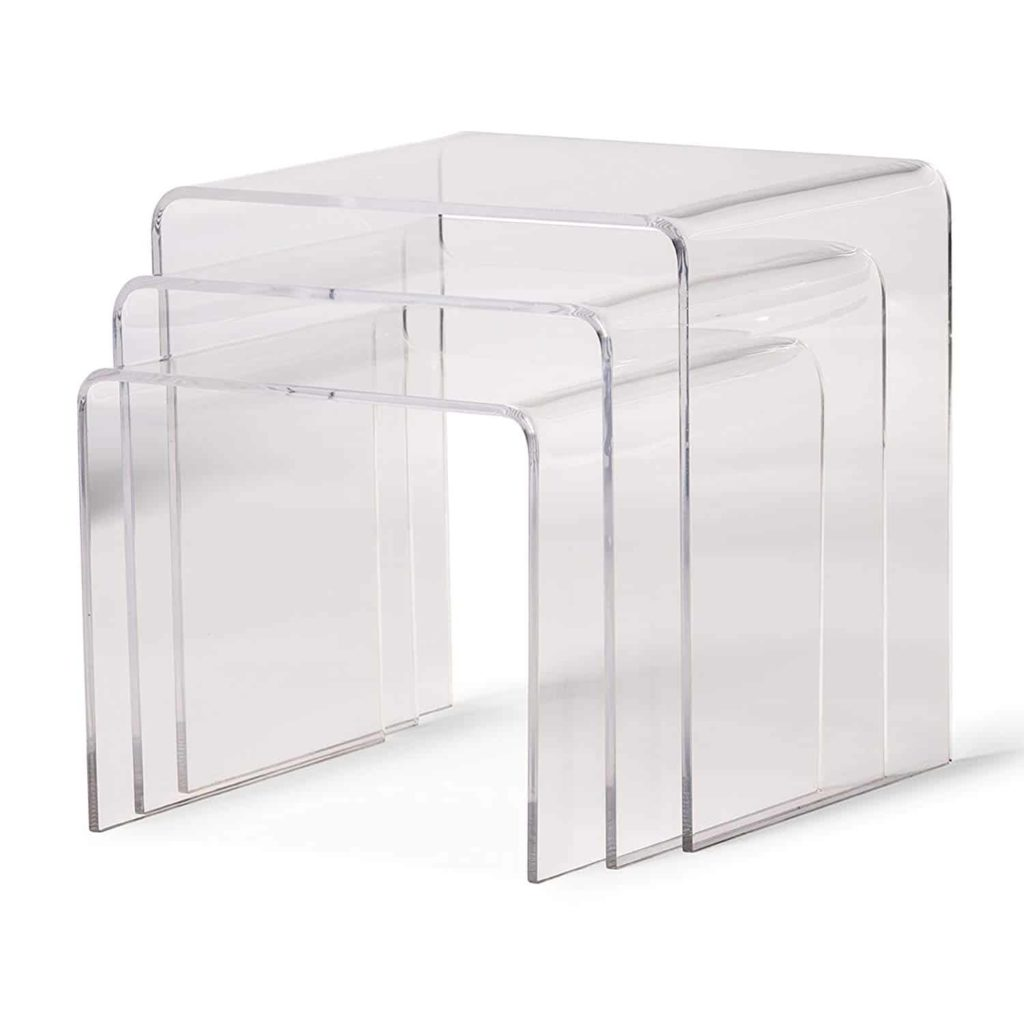 Baxton Studio Acrylic Nesting Tables
