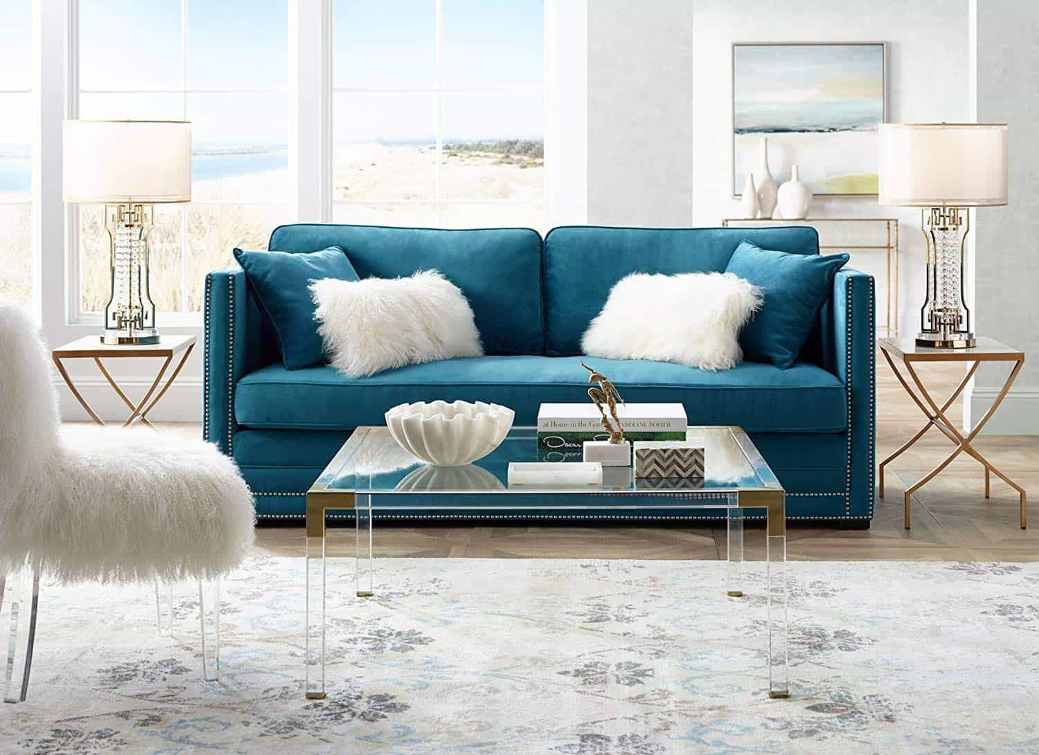 Chic Acrylic Coffee Tables For A Elegant Living Room