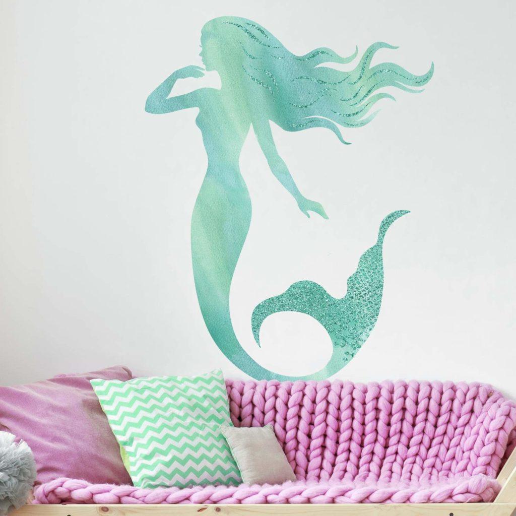 mermaid room decor wall decal