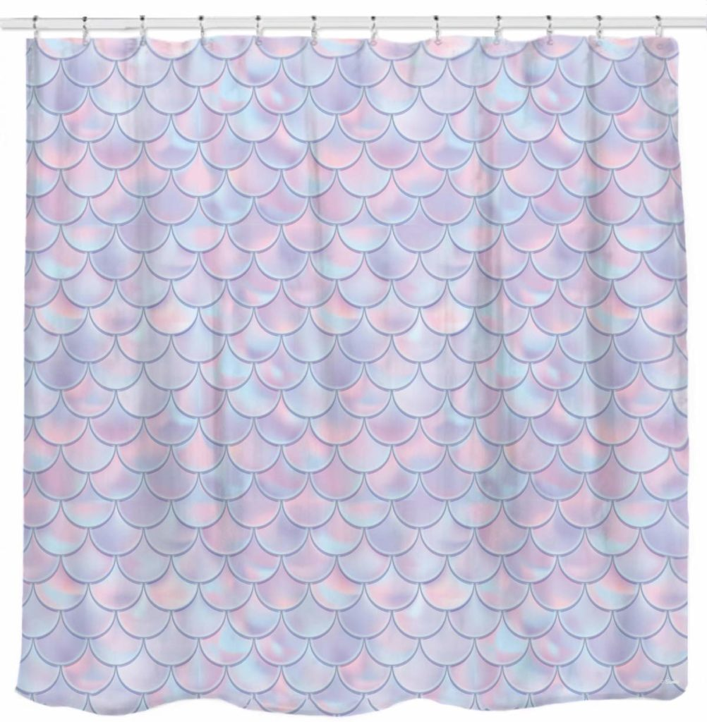 mermaid bathroom decor shower curtain